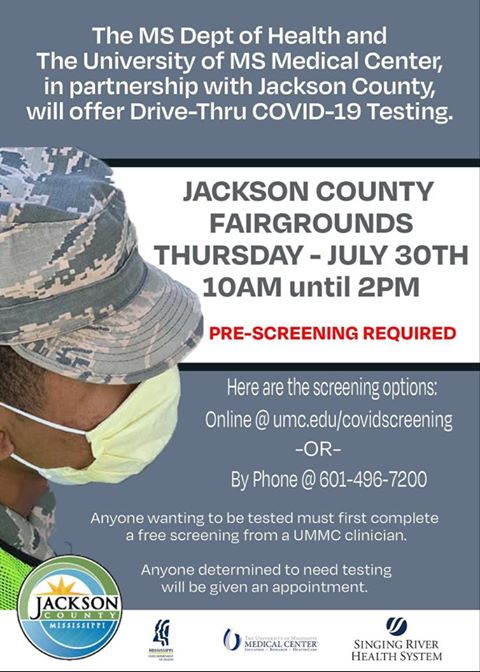 Jackson County Offers Drive-Thru COVID Testing